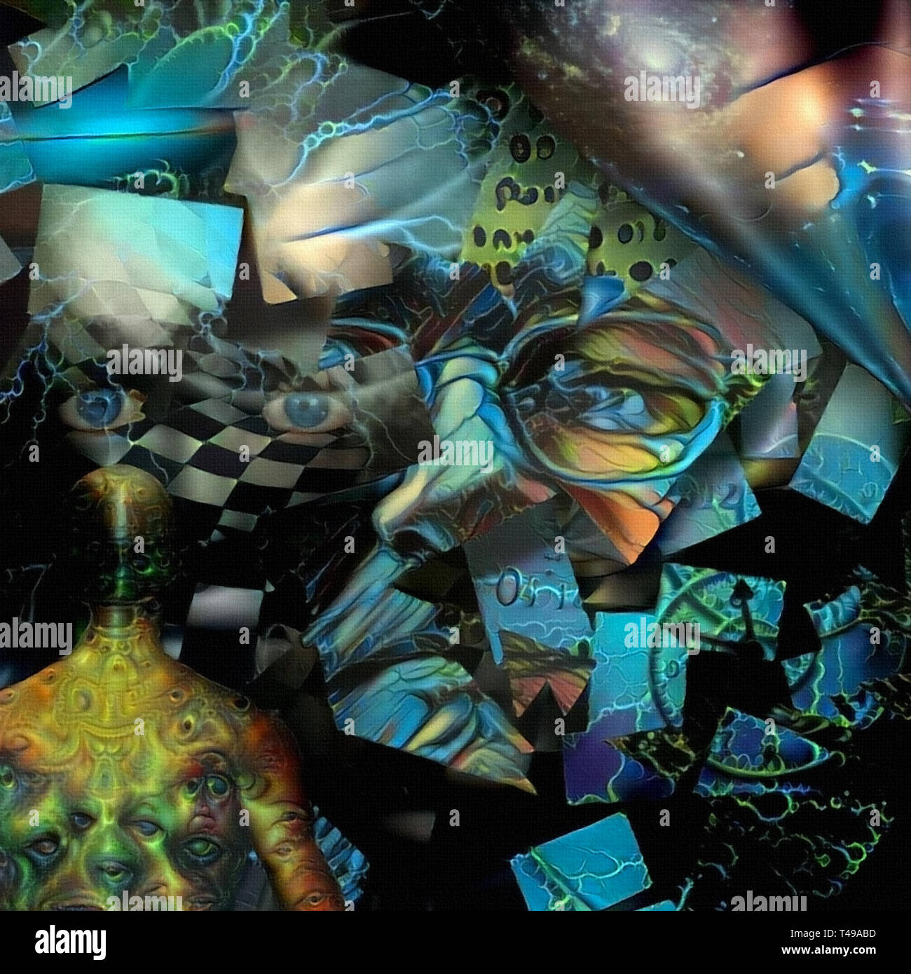Surreal art. Artist consciousness - Stock Image