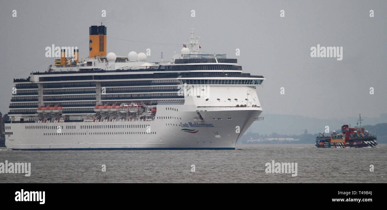 Liverpool,Uk Costa Mediterranea cruises leaves liverpool credit Ian Fairbrother/Alamy Stock Photos Stock Photo