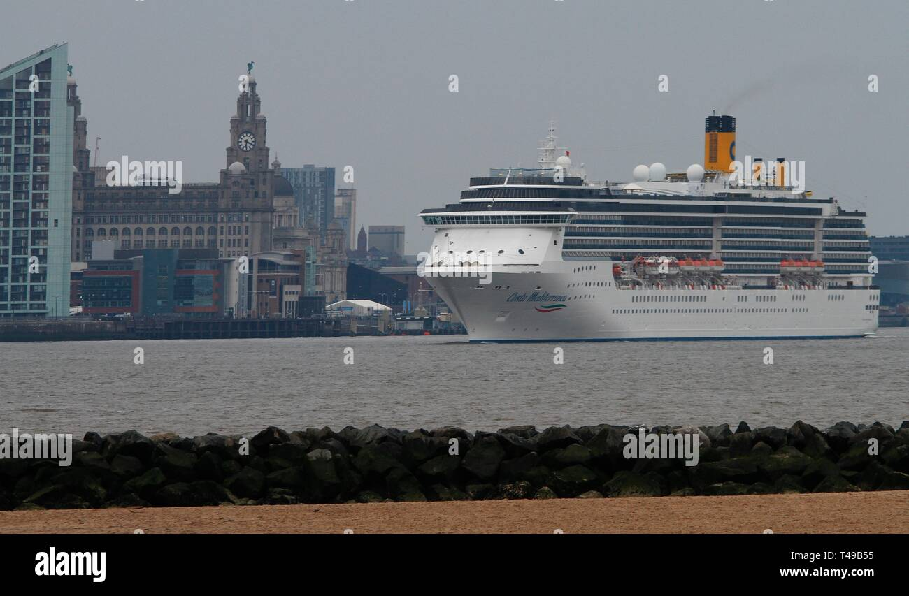 Liverpool,Uk Costa Mediterranea cruises leaves liverpool credit Ian Fairbrother/Alamy Stock Photos Stock Photo