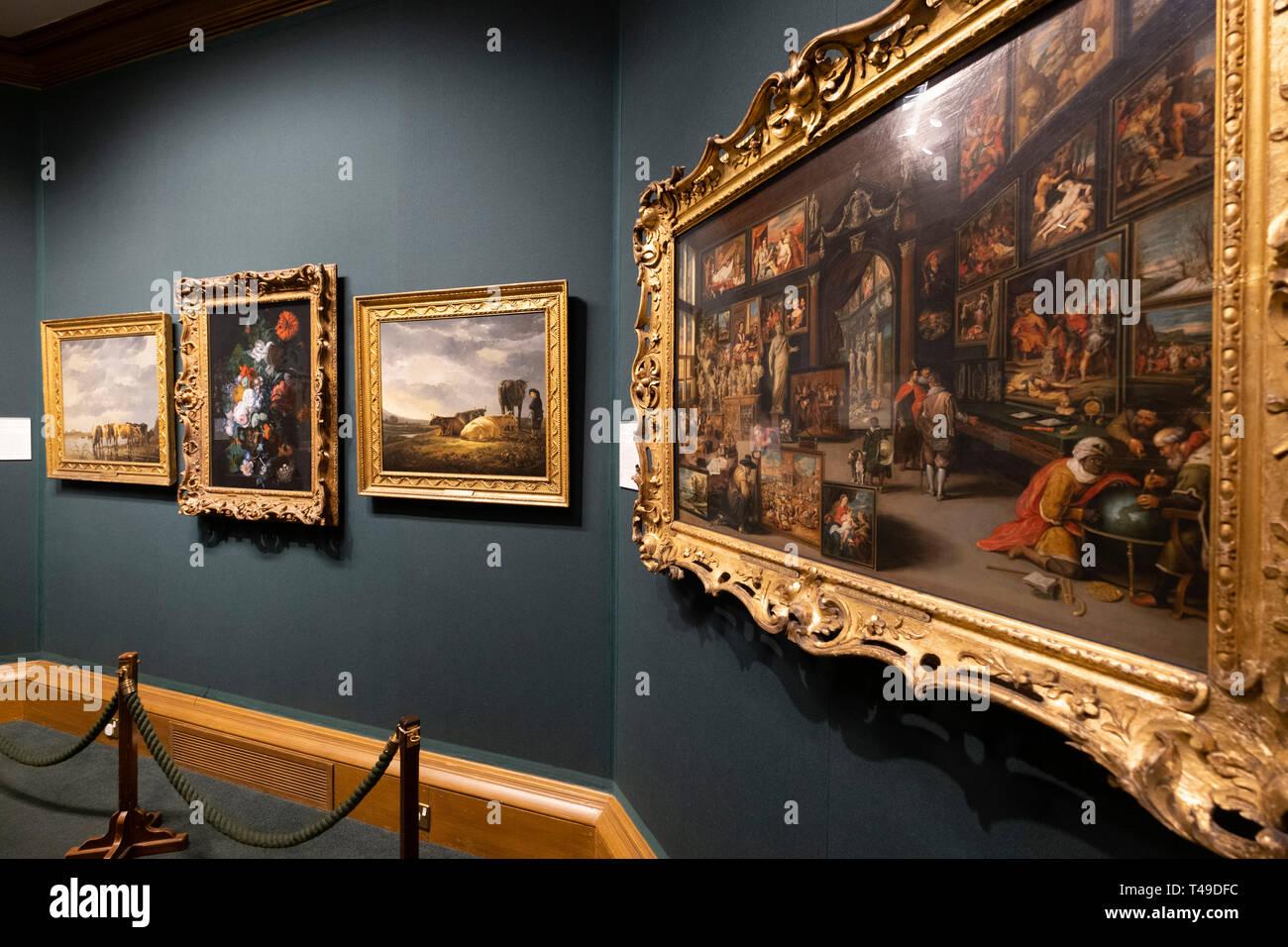 Scottish National Gallery art museum, Edinburgh, Scotland, United Kingdom, Europe Stock Photo