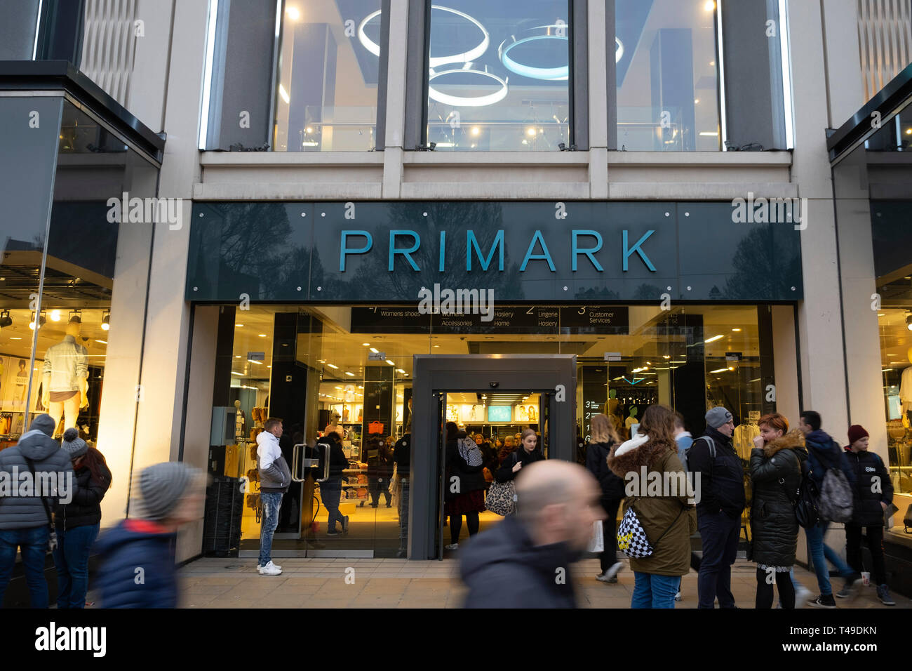 Primark store on Princes Street,Edinburgh, Scotland, UK - Stock Image