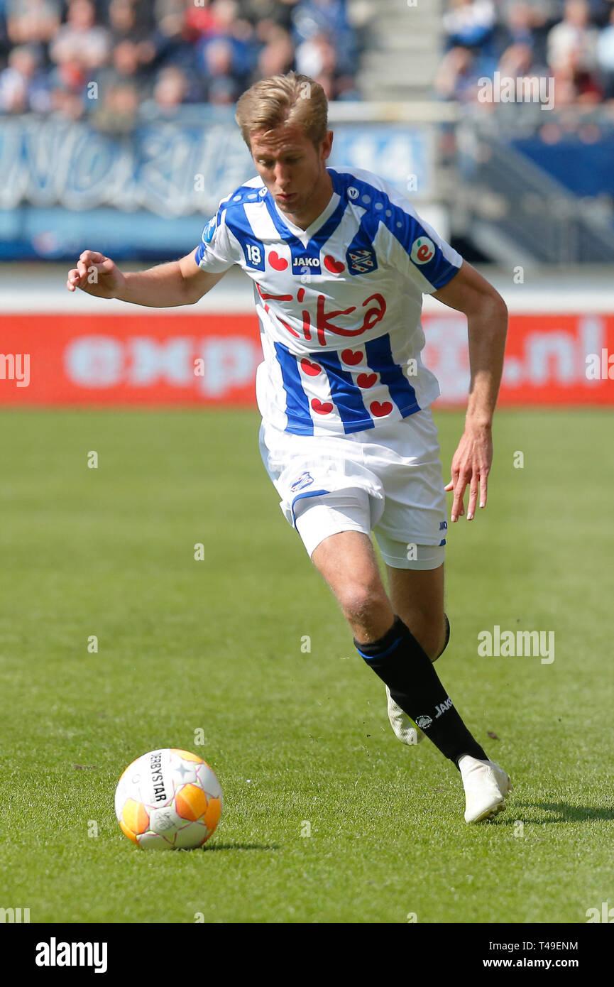14th of april 2019 Heerenveen, The Netherlands Soccer Dutch Eredivisie SC Heerenveen v FC Groningen  Eredivisie Seizoen 2018 - 2019, (L-R)  Michel Vla Stock Photo