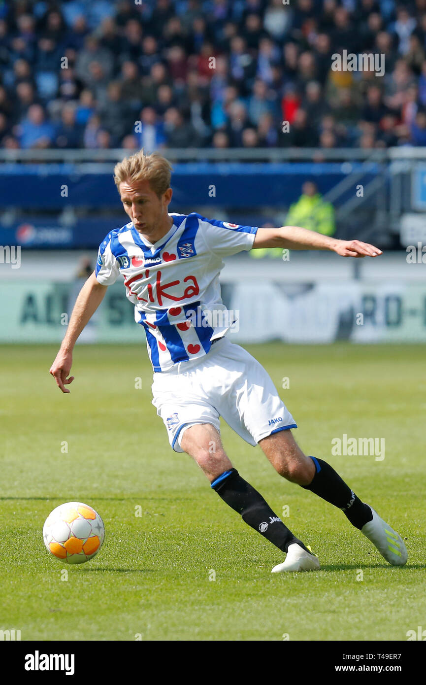 14th of april 2019 Heerenveen, The Netherlands Soccer Dutch Eredivisie SC Heerenveen v FC Groningen  Eredivisie Seizoen 2018 - 2019, (L-R)  Michel Vla Stock Photo