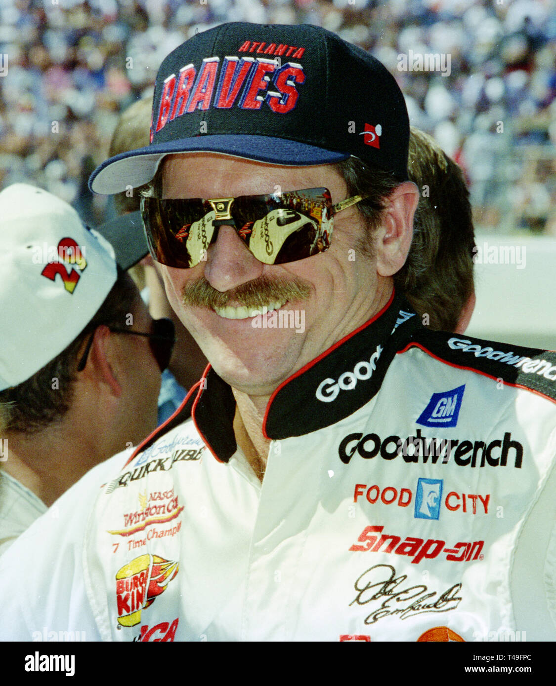 a8c02f9a12d1e Dale Earnhardt on pit road prior to the start of the UAW-GM Quality 500