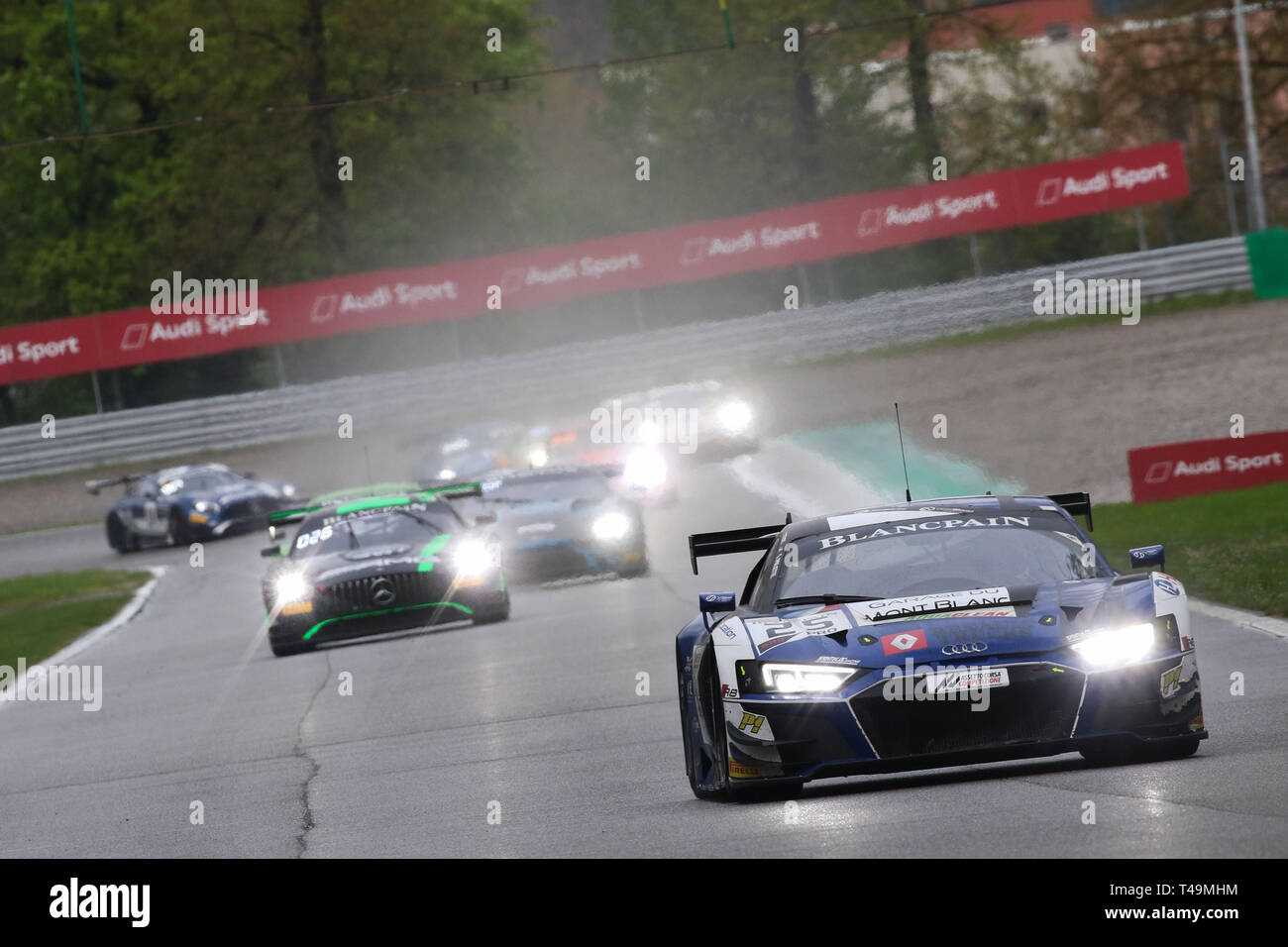 Monza Italy 14th Apr 2019 Sainteloc Racing Audi R8 Lms Gt3 Evo