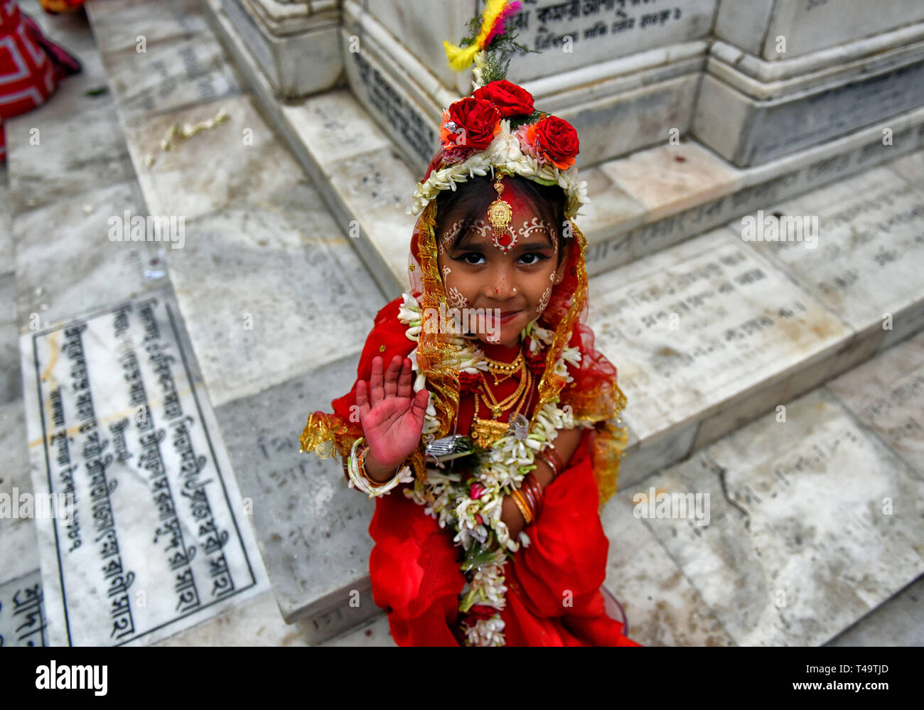 Kolkata, India  14th Apr 2019  A young girl seen