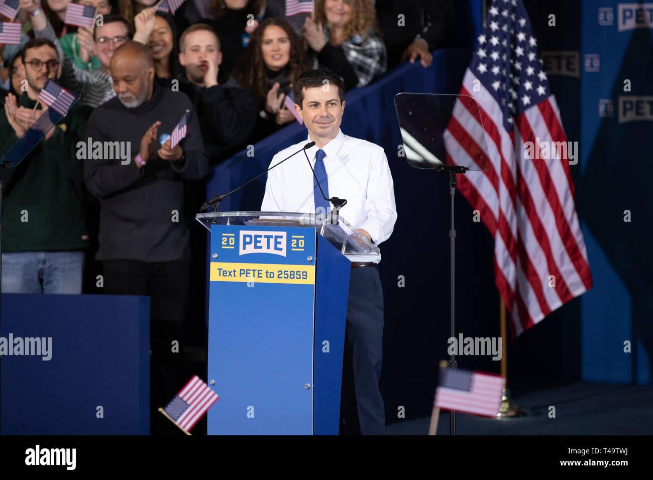 South Bend, Indiana, USA  14th Apr 2019  Mayor Pete