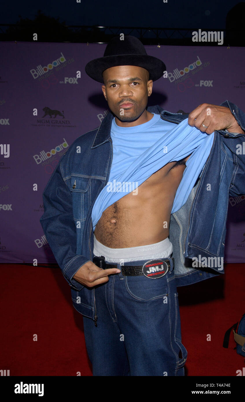 LAS VEGAS, NV. December 10, 2003: DARYL of RUN DMC at the 2003 Billboard Music Awards at the MGM Grand, Las Vegas. - Stock Image