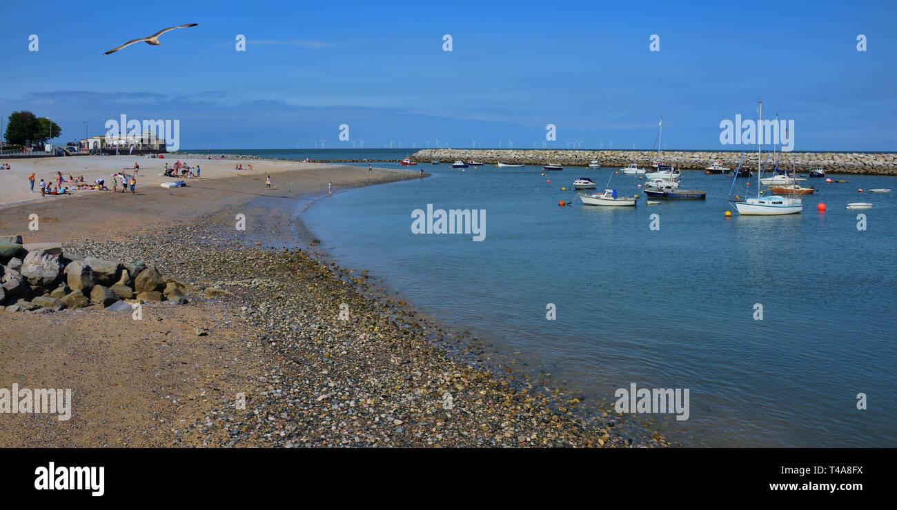 Rhos-on-Sea sandy beach - Stock Image