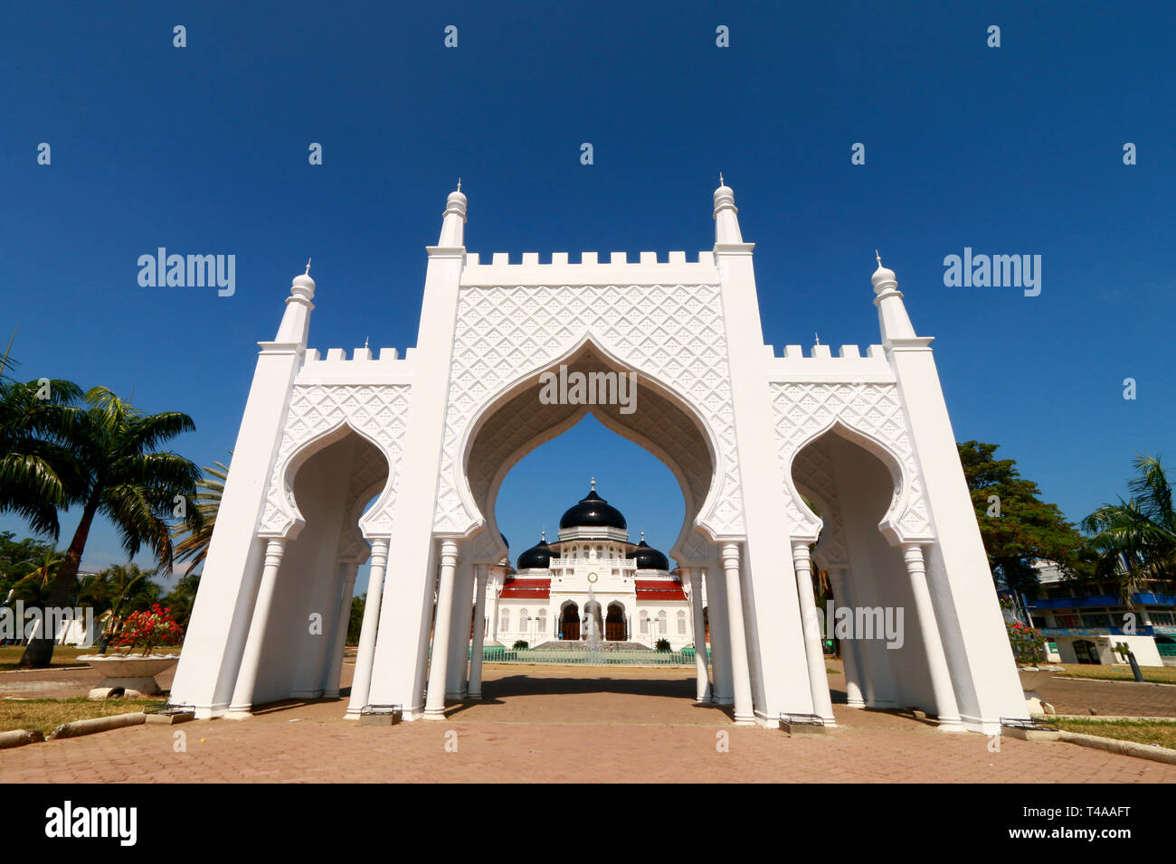 Baiturrahman Grand Mosque, Banda Aceh Stock Photo