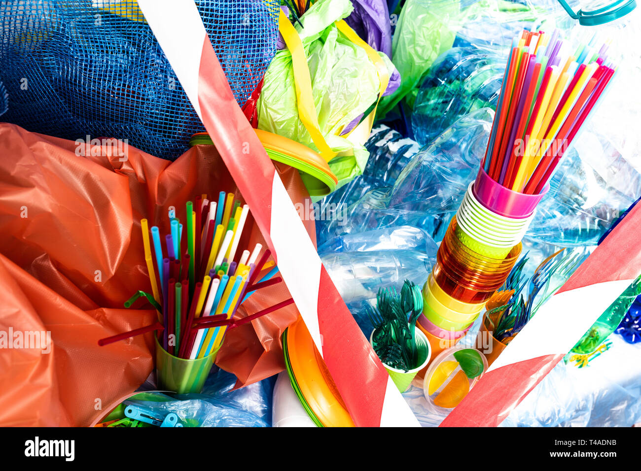 Extreme amount of different plastic tools and things - Stock Image
