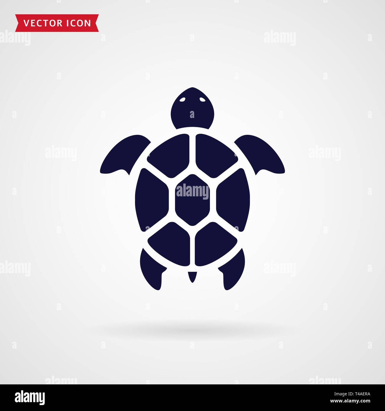 a01c3a281 Turtle icon isolated on white background. Sea animal. Vector symbol ...