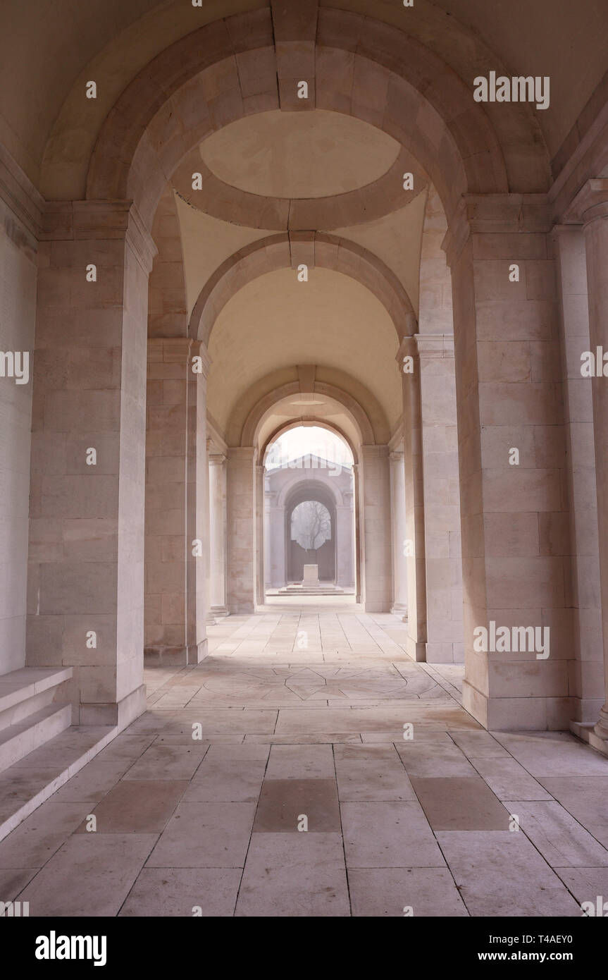Faubourg D'Amiens War Cemetery, Arras, Northern France - Stock Image