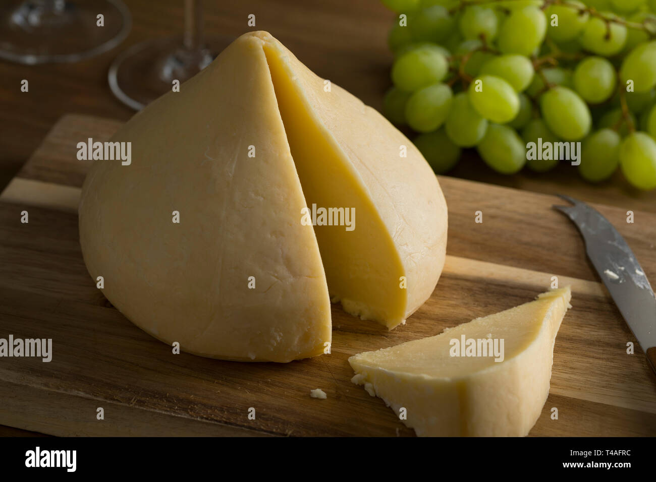 Tetilla cows cheese made in Galicia, Spain - Stock Image