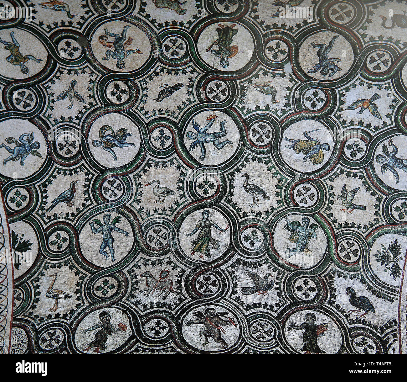 ROME, ITALY, MARCH 30, 2015 : mosaic in San Clemente church, march 30, 2015 in Rome, Italy Stock Photo