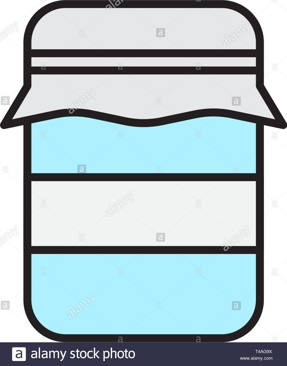 Glass jar vector icon, outline vector sign isolated on white background - Stock Vector