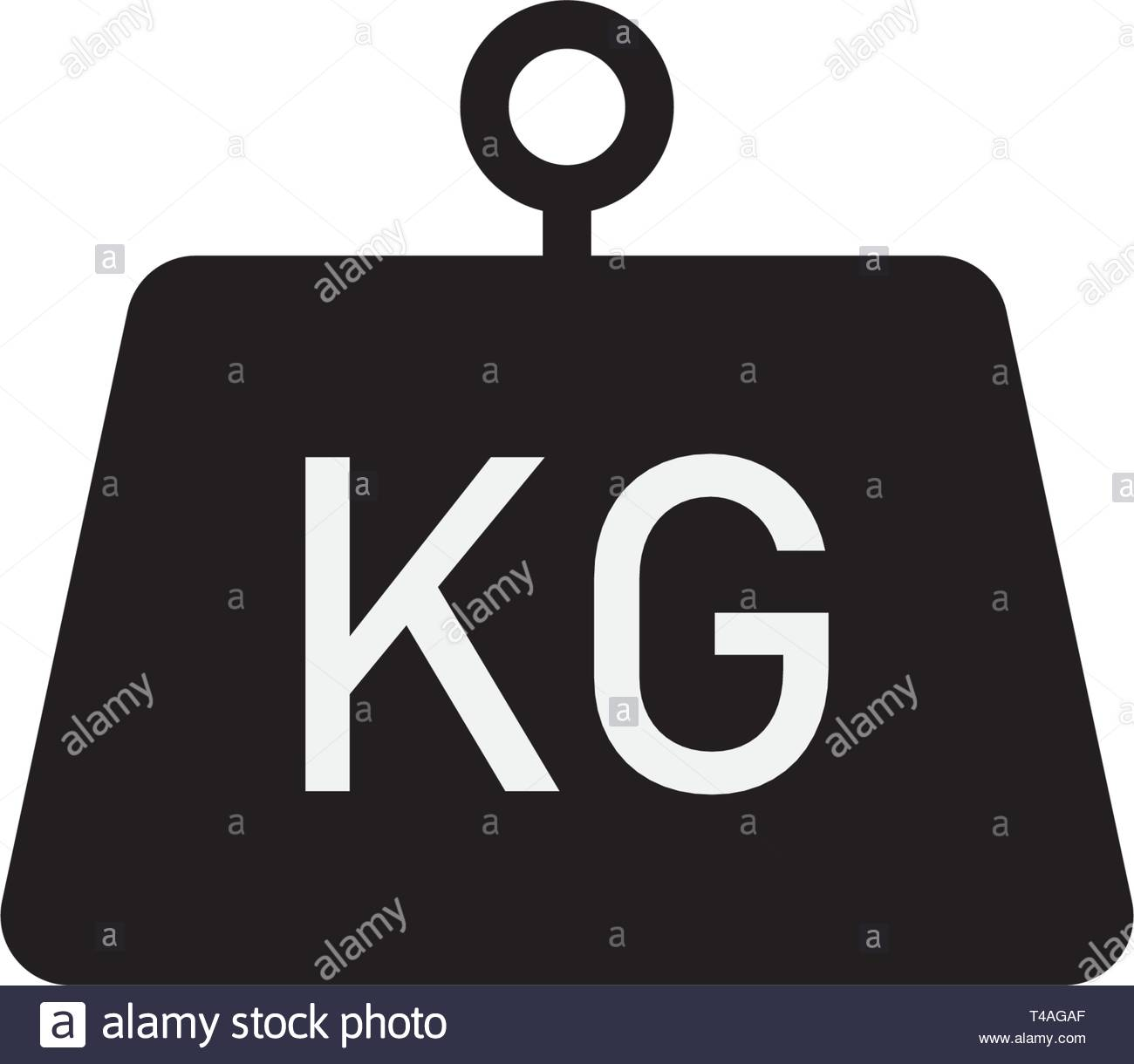 Kilogram vector icon flat style isolated on white background - Stock Image