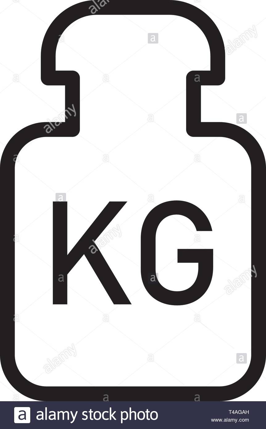 Kilogram vector icon flat style isolated on white background Stock Vector