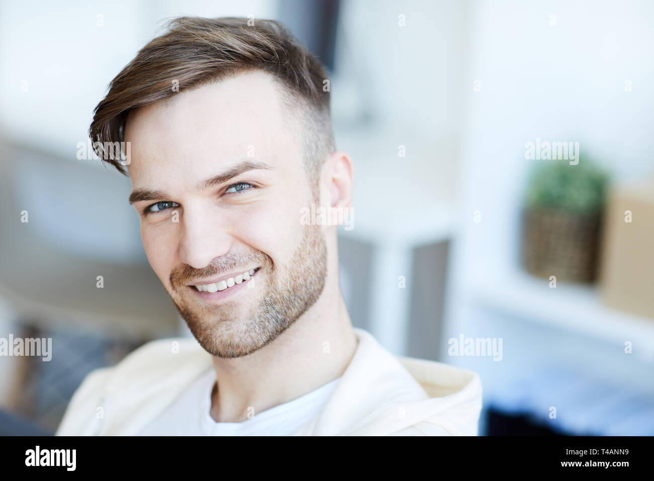 Portrait of Handsome Man - Stock Image