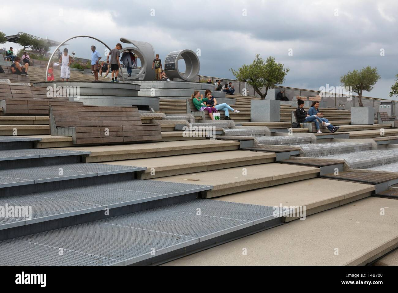 Amsterdam Netherlands July 8 2017 People Visit The Roof