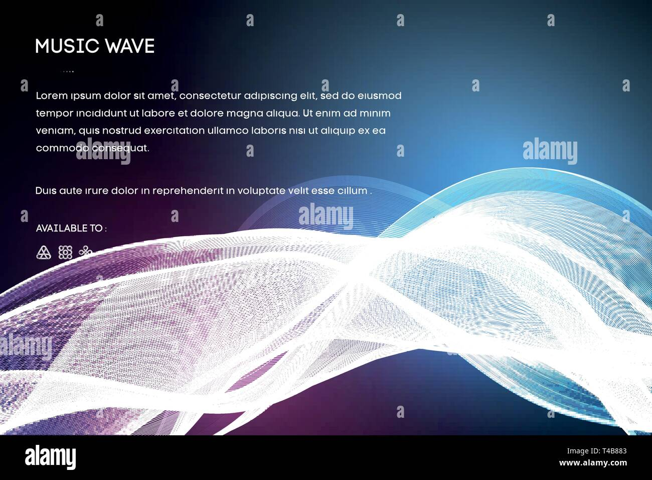 Sound wave vector   Vector music voice vibration, song
