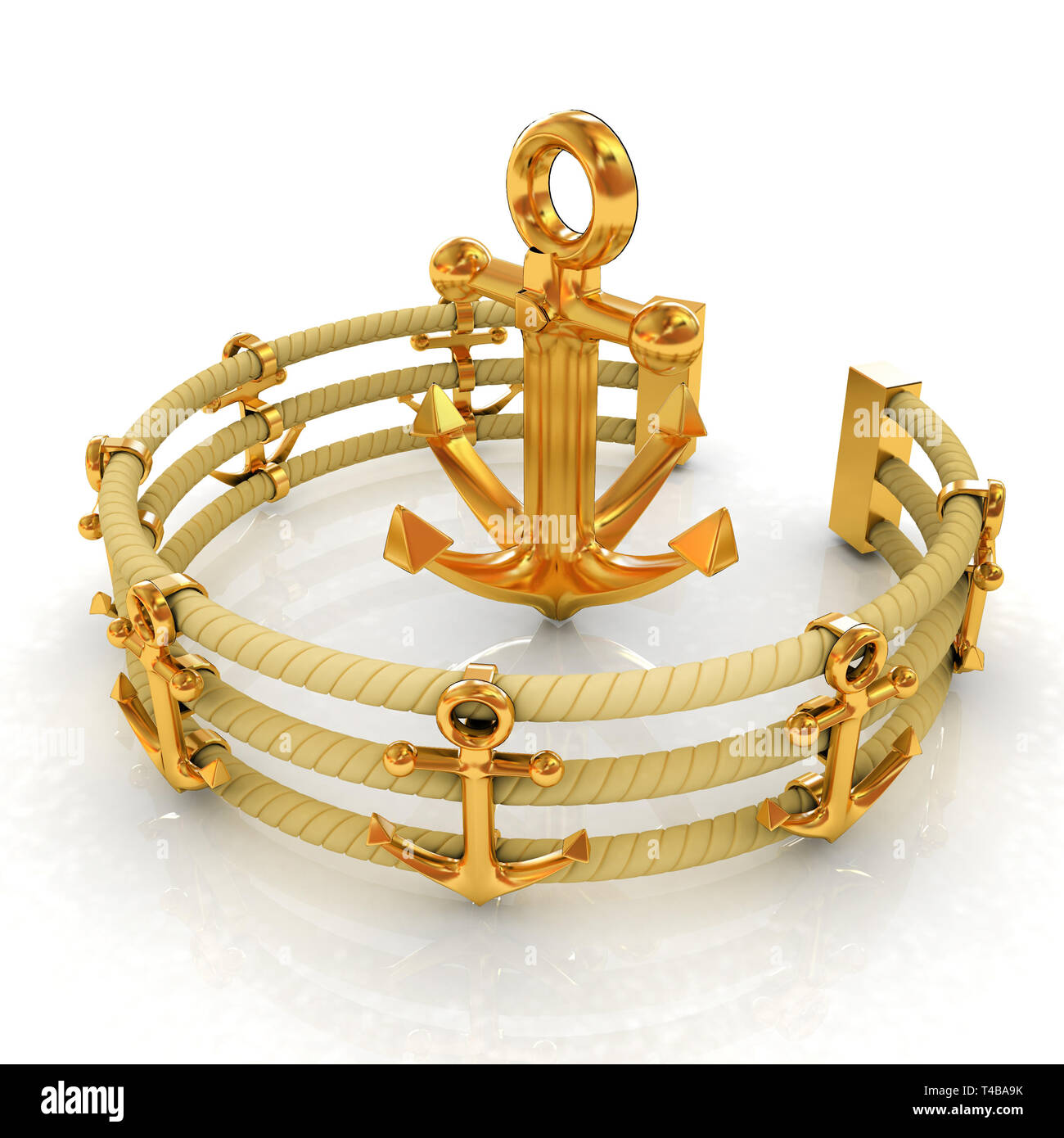 Design fence of anchors on the ropes and anchor in the