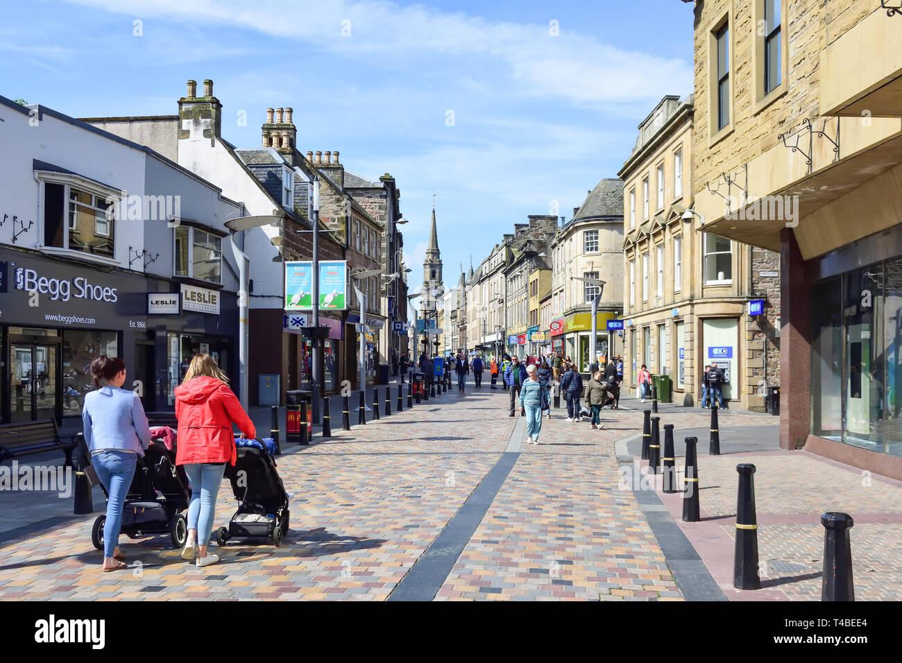 Pedestrianised Eastgate, Inverness, Highland, Scotland, United Kingdom - Stock Image