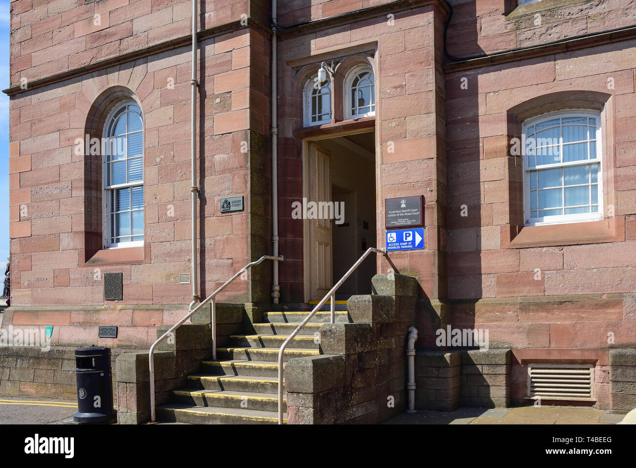 Inverness Sheriff and Justice of the Peace Court, Castle Street, Inverness, Scottish Highlands, Scotland, United Kingdom - Stock Image