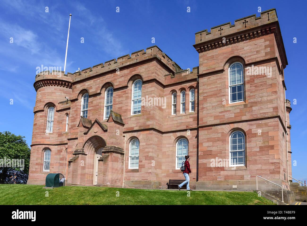 Inverness Castle, Castle Hill, Inverness, Highland, Scotland, United Kingdom - Stock Image