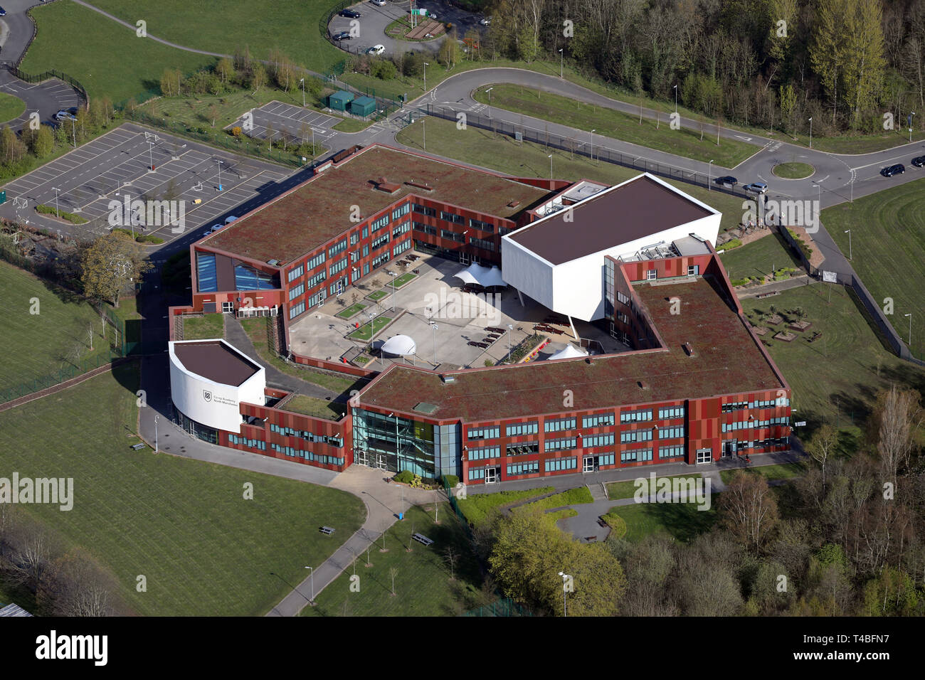 aerial view of the Co-Op Academy North Manchester - Stock Image