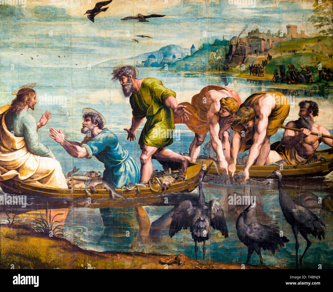 Raphael, The Miraculous Draught of Fishes, painting, c. 1515 Stock Photo