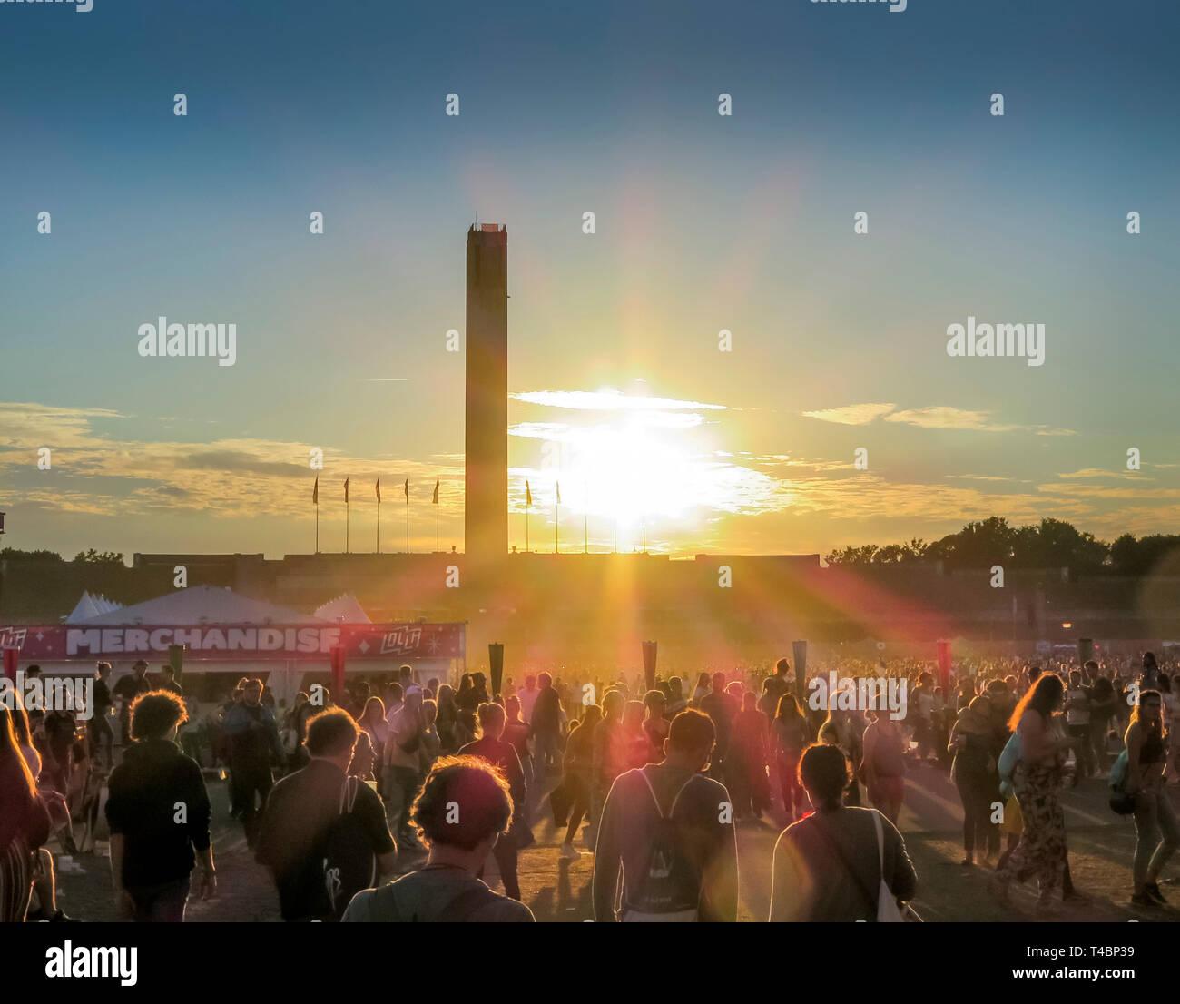 Maifeld, Lollapalooza-Festival, Olympiastadion, Westend, Berlin, Deutschland - Stock Image