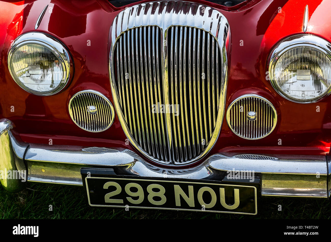 A 1964 Daimler 2.5L saloon on display at a car show - Stock Image