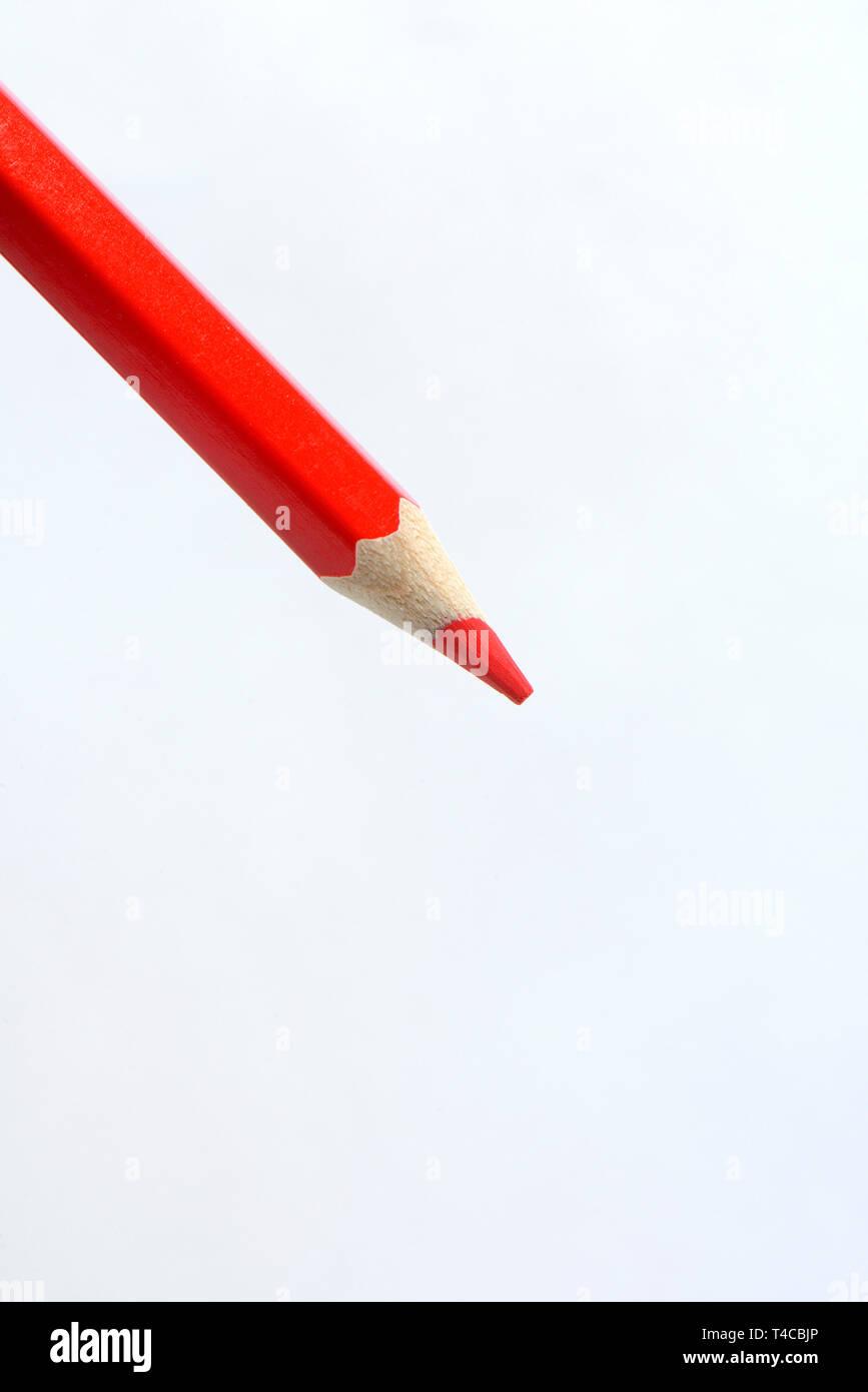 Roter Buntstift, Rotstift - Stock Image