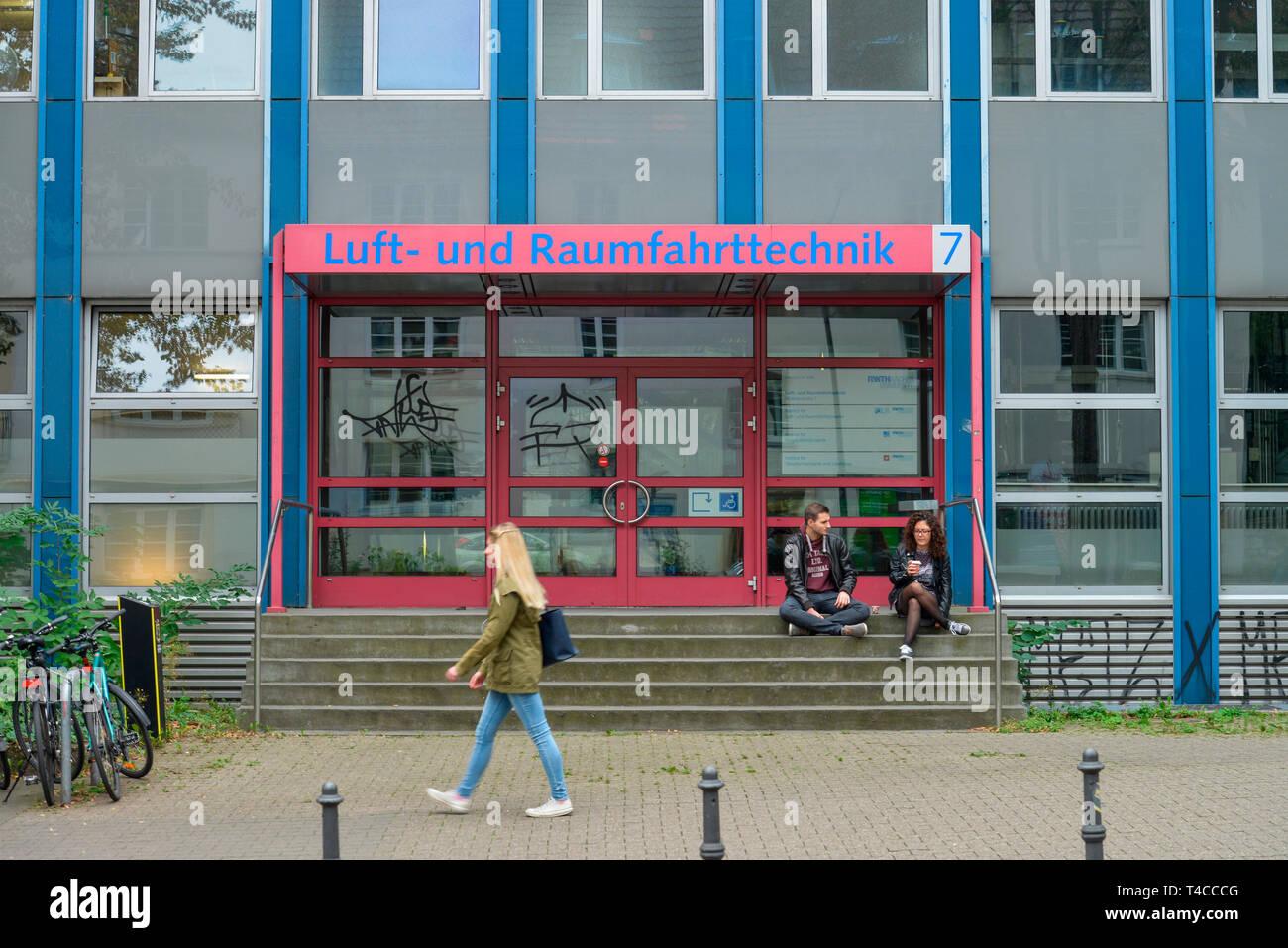 Institut fuer Luft- und Raumfahrtsysteme, RWTH, Wuellnerstrasse, Aachen, Nordrhein-Westfalen, Deutschland, Wüllnerstrasse - Stock Image