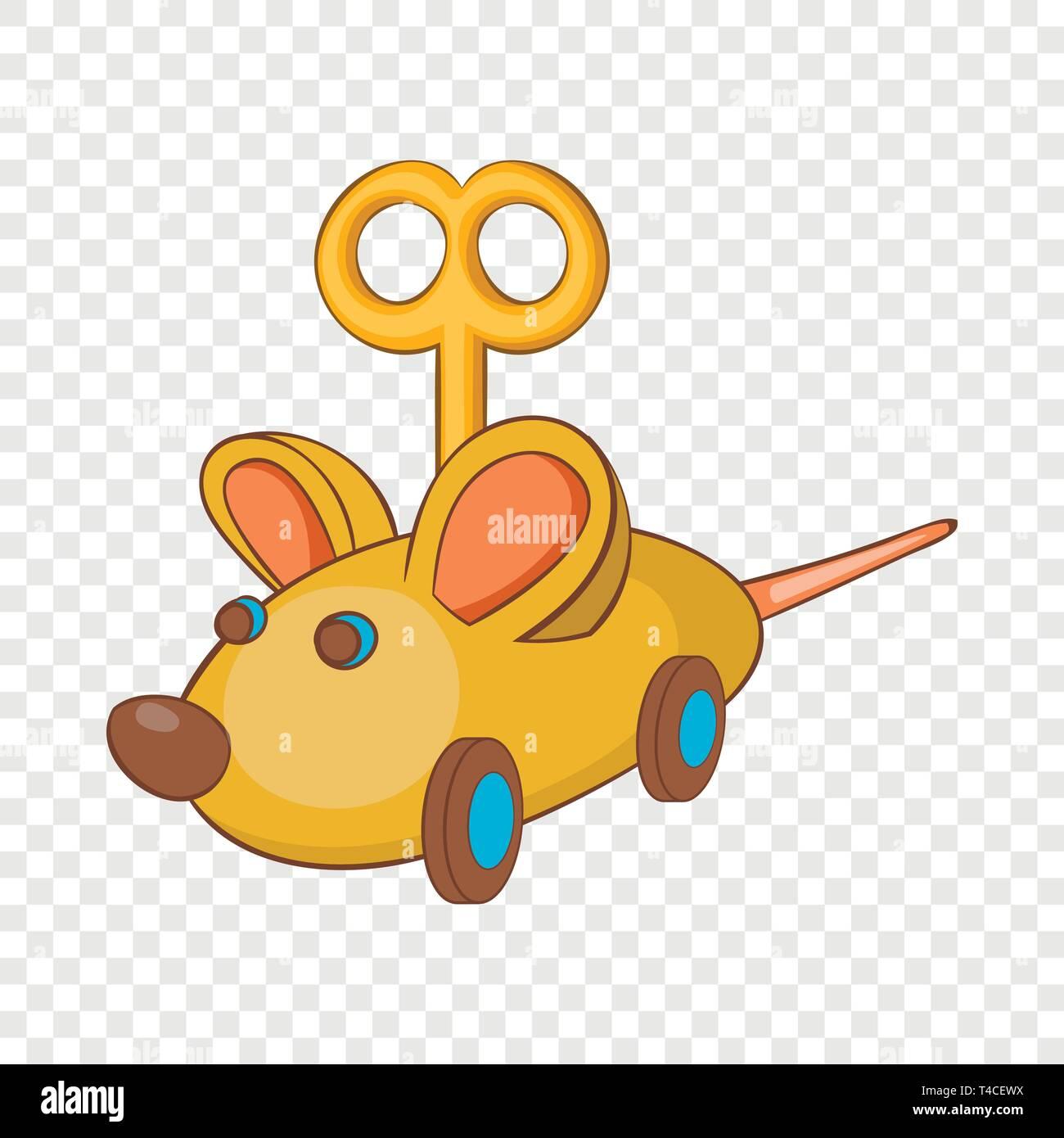 Clockwork mouse icon, cartoon style - Stock Vector