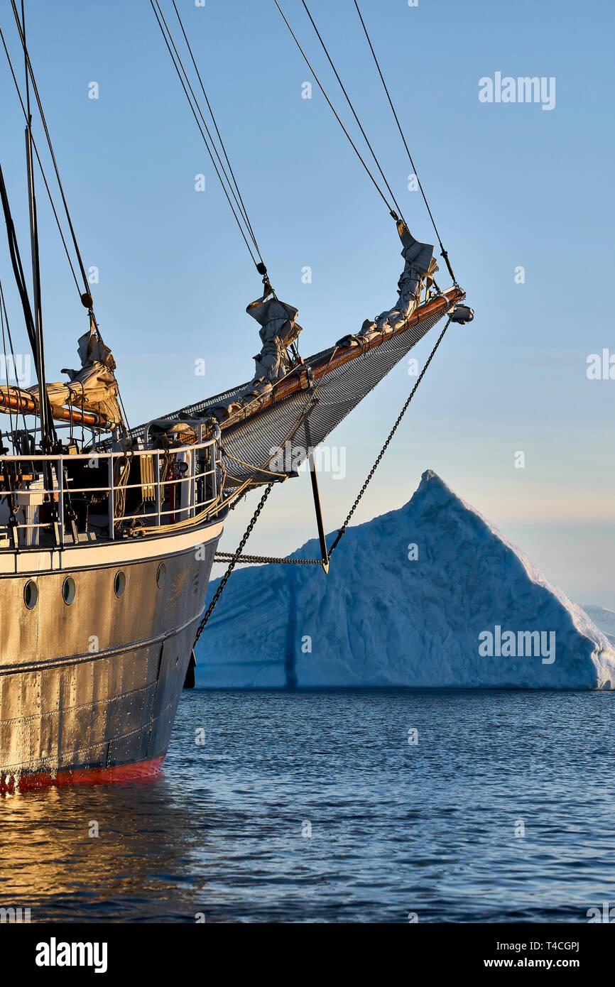 Rembrant Van Rijn, Schooner Ship, Scoresbysund, Greenland - Stock Image