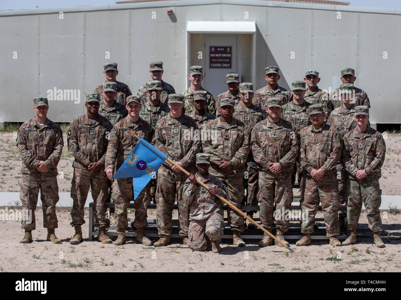 Soldiers from Basic Leader Course Class 19-702 graduate Camp