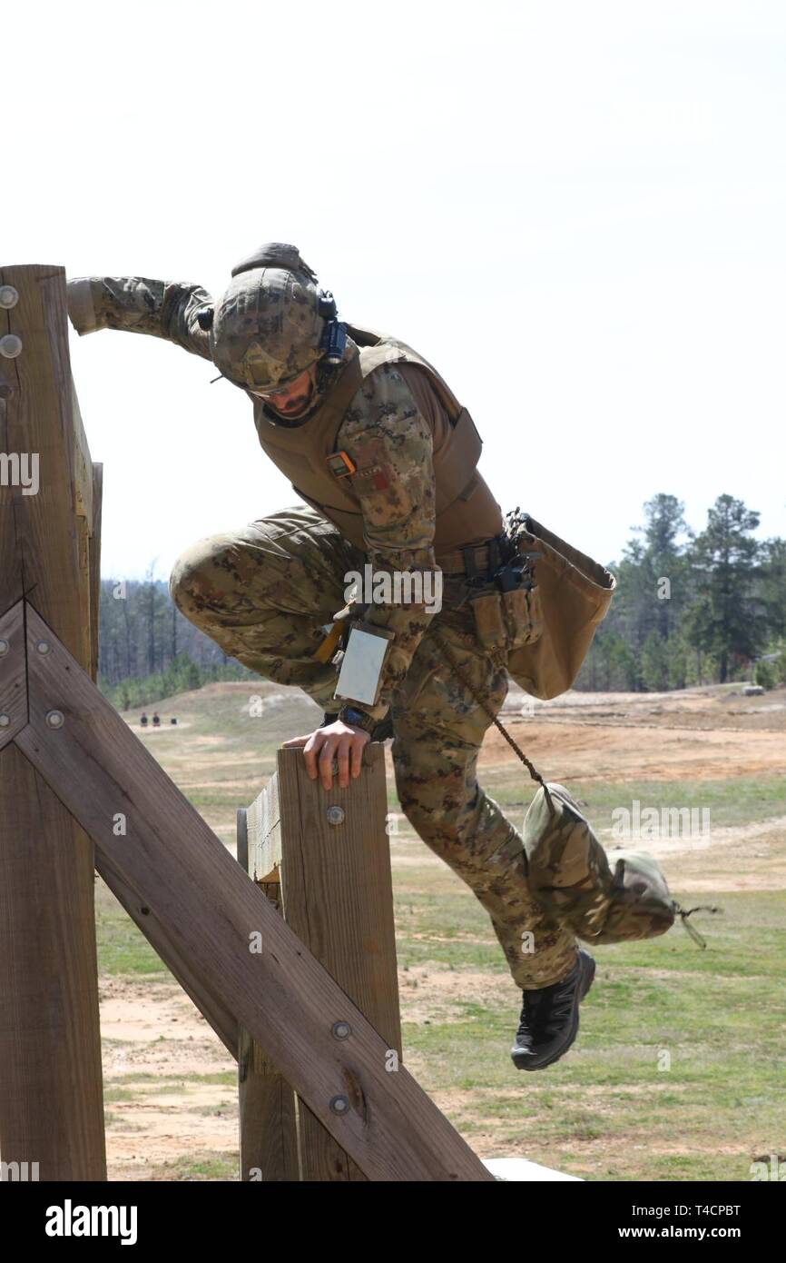A competitor in the United States Army Special Operations