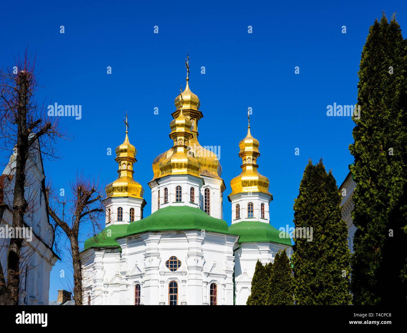 Kiev Pechersk Lavra (Cave Monastery), Kiev, Ukraine: Church of All Saints - Stock Image