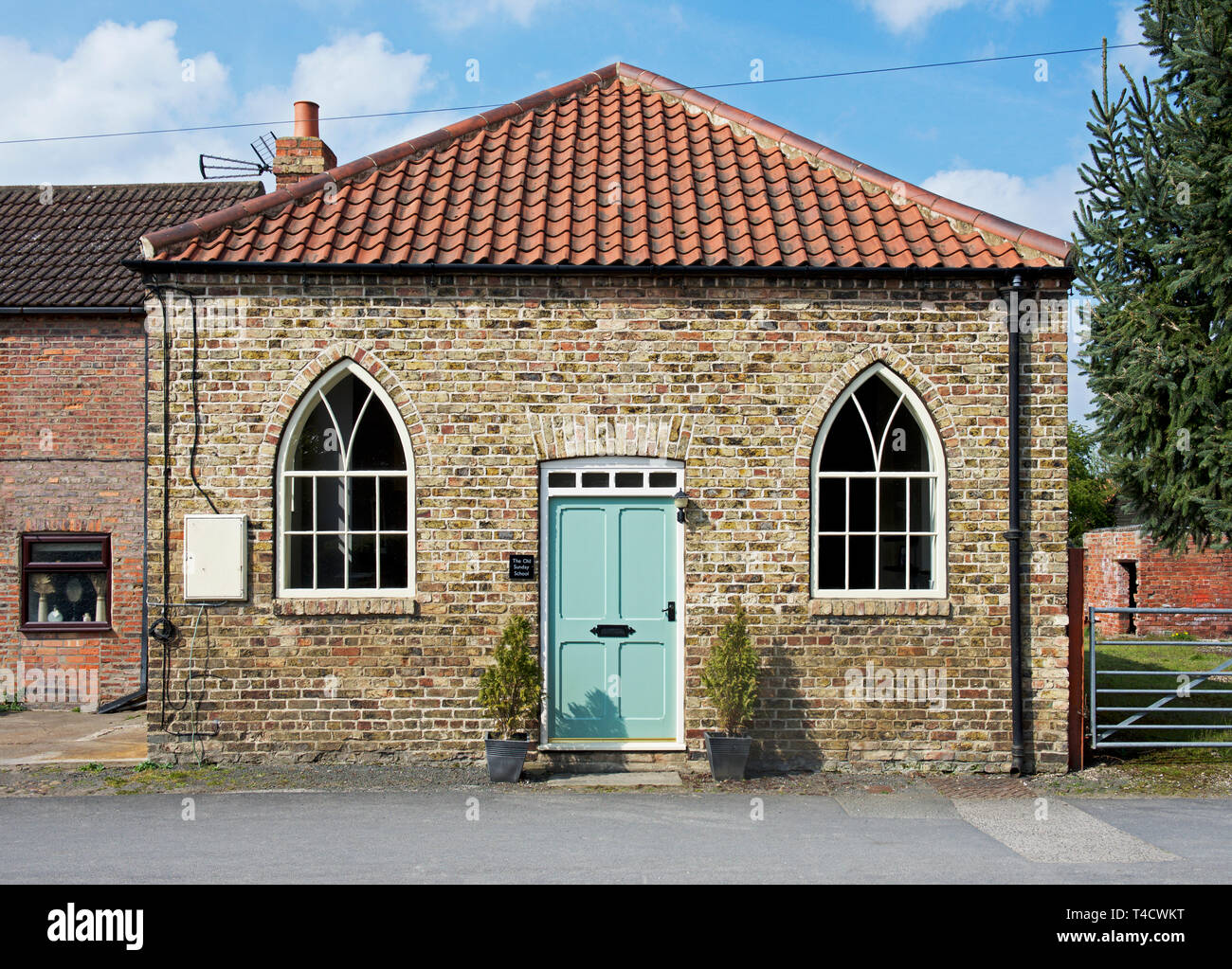 The Old Sunday School, now converted to a dwelling, in the village of Asselby, East Yorkshire, England UK - Stock Image