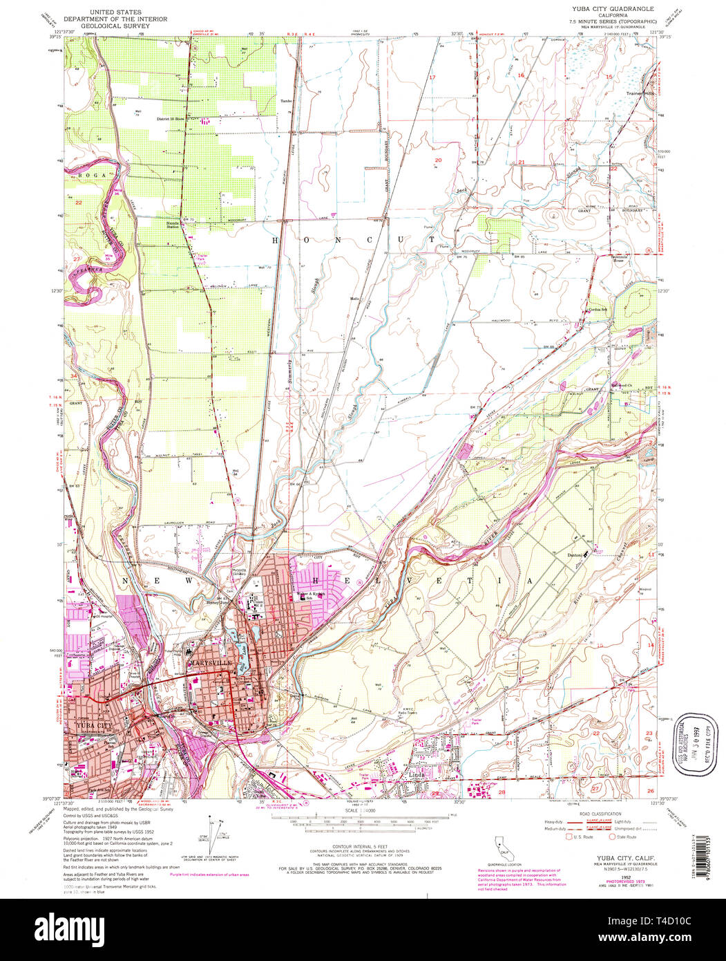 Map Of California Yuba City.Usgs Topo Map California Ca Yuba City 301478 1952 24000 Restoration
