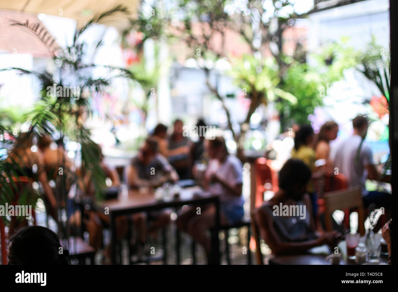 Blurred Background Of People Who Is Visitig Cafe Morning Concept Stock Photo Alamy
