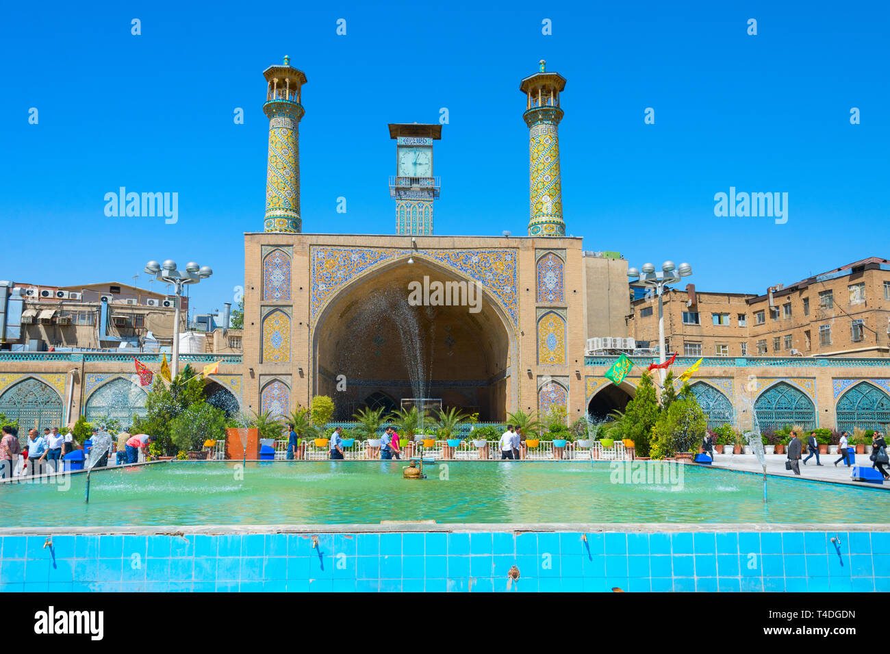 TEHRAN, IRAN - MAY 22, 2017: The Shah Mosque, also known as the Imam Khomeini Mosque is a mosque in the Grand Bazaar in Tehran, Iran. - Stock Image