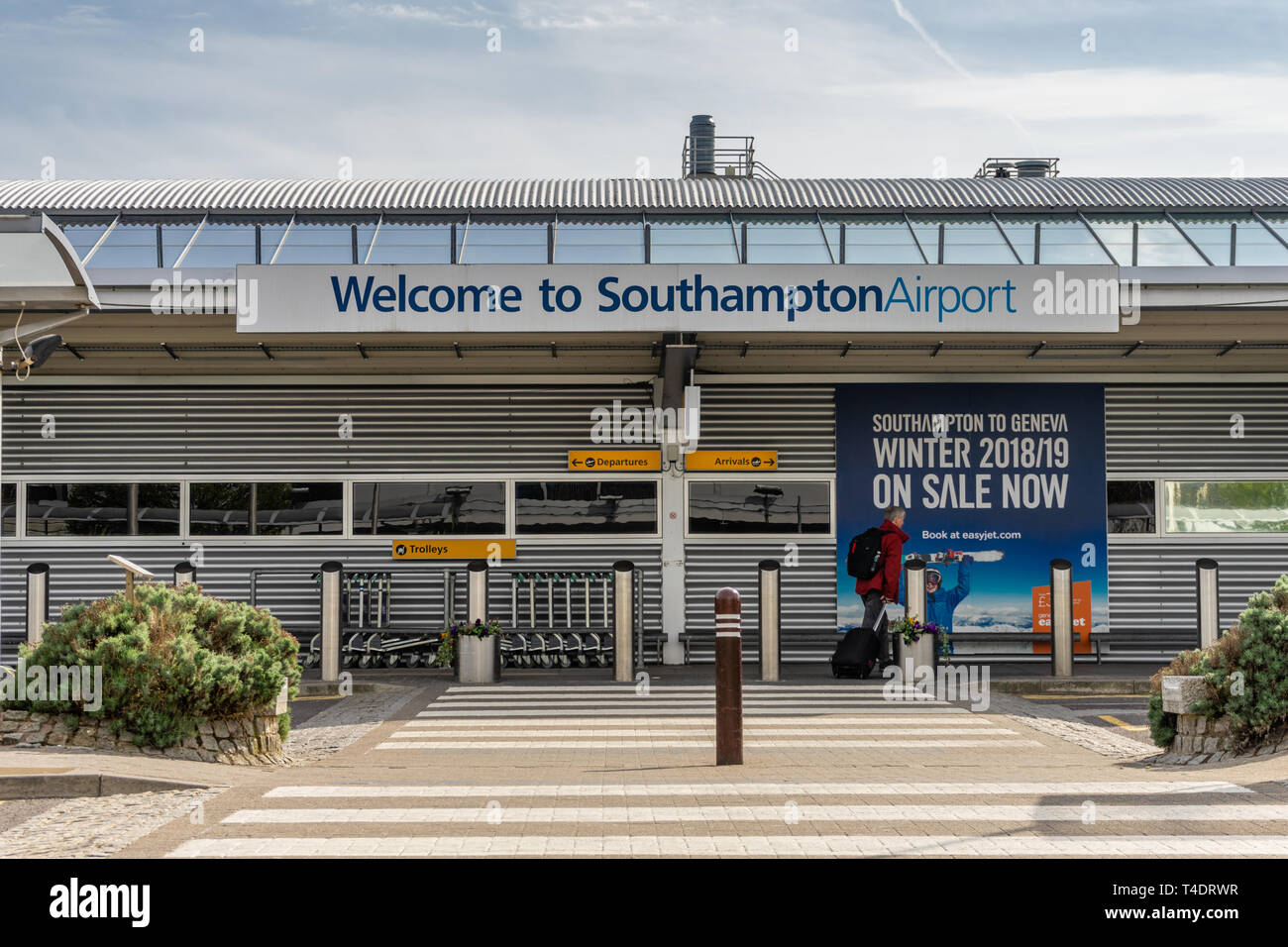 Entrance to Southampton Airport, a small International airport in Southampton, Hampshire, England, UK Stock Photo