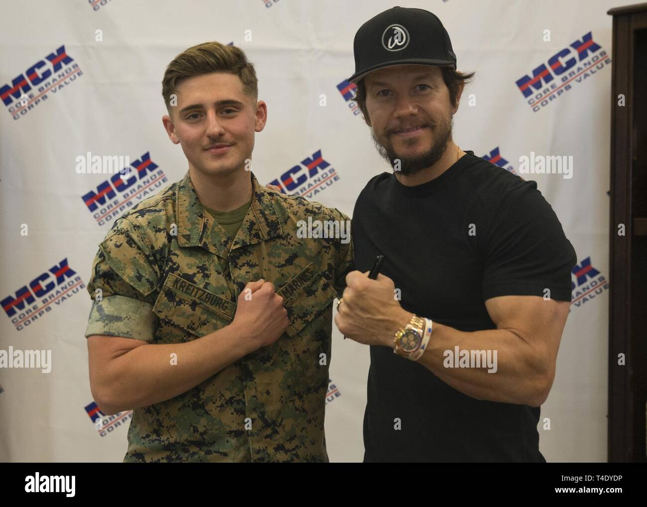 U S  Marine Lance Cpl  Noah Kreitzburg, finance technician with