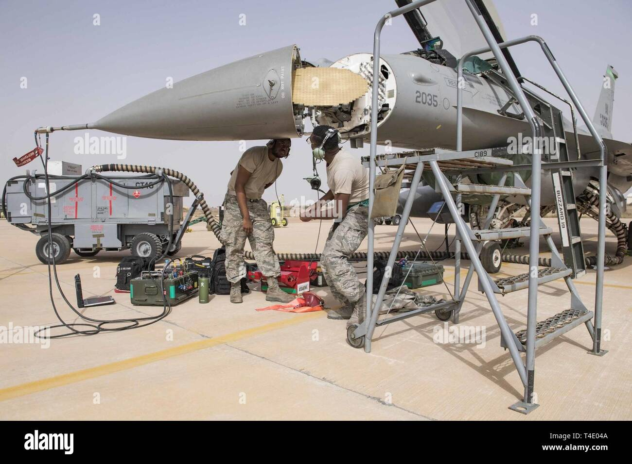 Avionics Maintainers from the 555th Aircraft Maintenance
