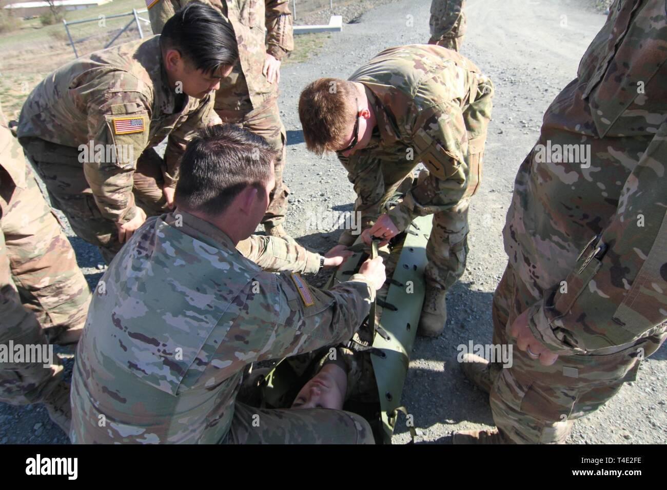 U S  Army combat medics assigned to 1st Battalion, 16th