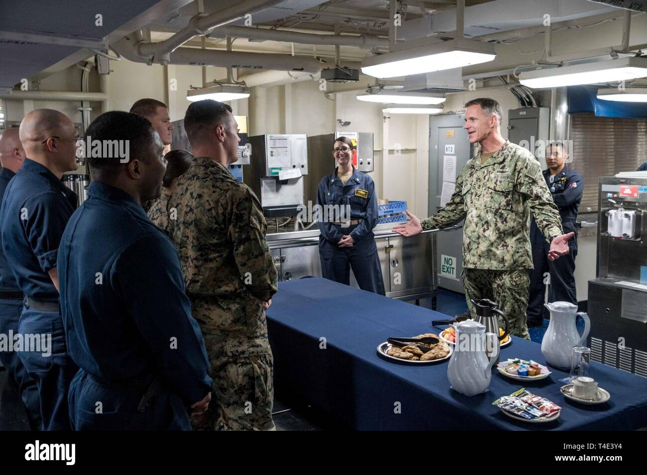 OCEAN (March 27, 2019) Rear Adm  Bill Byrne, Commander, Carrier