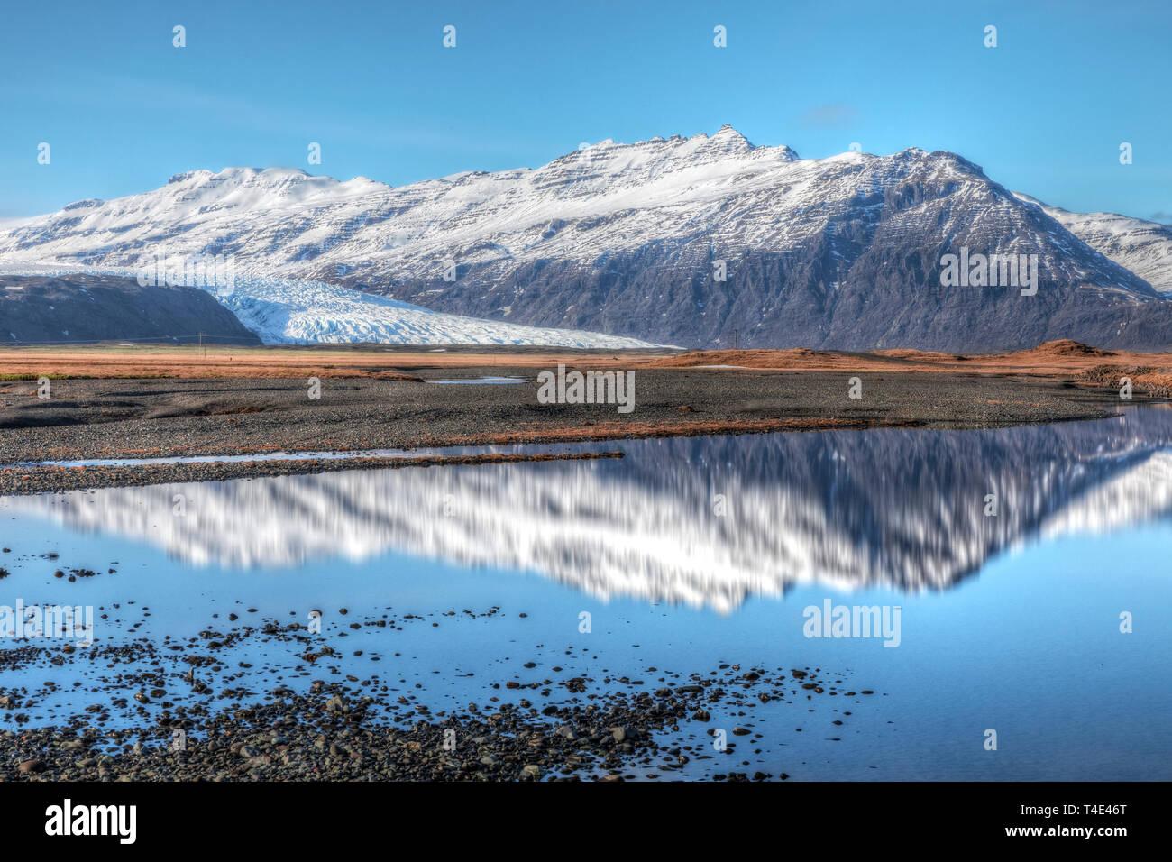 Flaajokull, Hofn, Austurland, Iceland, Europe Stock Photo